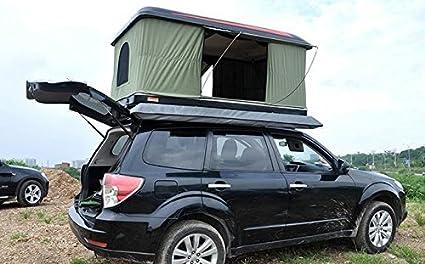 mccautomatic Solar - Tienda de campaña para techo de coche, black green cloth: Amazon.es: Deportes y aire libre