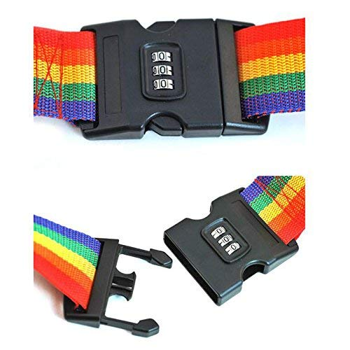Xhuan Luggage Straps Suitcase Belts Stripe Security Locks with 3-Digit Combination Coded for Travel Luggage Suitcase