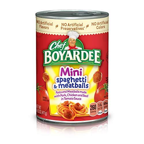 - Chef Boyardee Mini Spaghetti and Meatballs, 14.5 oz
