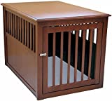 Cheap Crown Pet Products Pet Crate Wood Dog Crate Furniture End Table, Large Size with Mahogany Finish