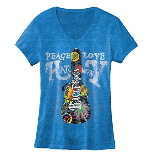 peace-frogs-guitar-case-ladies-v-neck-burnout-licensed-t-shirt-small