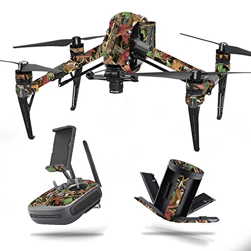 MightySkins Skin for DJI Inspire 2 - Buck Camo | Protective, Durable, and Unique Vinyl Decal wrap Cover | Easy to Apply, Remove, and Change Styles | Made in The USA