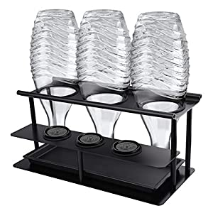 3er Flaschenhalter Abtropfständer für Sodastream Emil Flaschen, Abnehmbarer Flaschenständer aus Aluminiumlegierung mit…
