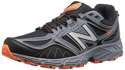 (New Balance Men's 510v3 Trail Running Shoe, Black/Grey, 10.5 4E US)