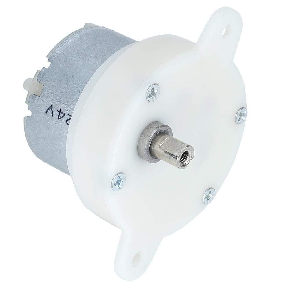 Caja de engranajes de 10 rpm de motorreductor pequeño de baja velocidad de 12 V con rotación de engranaje de silenciamiento de terminal para juguetes, máquinas expendedoras, soportes de exhibición, di