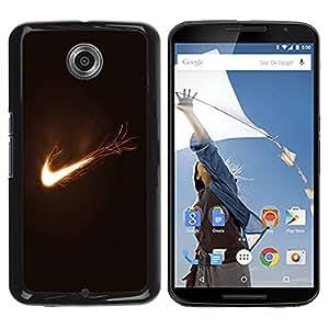 LECELL -- Funda protectora / Cubierta / Piel For Motorola NEXUS 6 / X / Moto X Pro -- Flaming Logo --