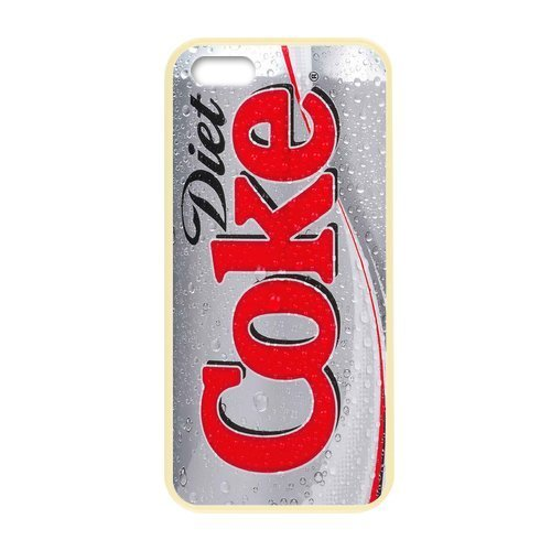Costume Coke Diy Diet (iphone 5 5s case discount yellow border Cases for Iphone 5,5S Apple diet)