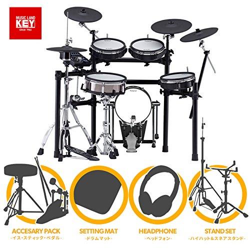 Roland 電子ドラム TD-25KVX w/KD-120BK + MDS-9SC フルオプションセット 【ペダルマットイススティックヘッドホンハイハットスタンドスネアスタンド付き】   B07CYL4LRV