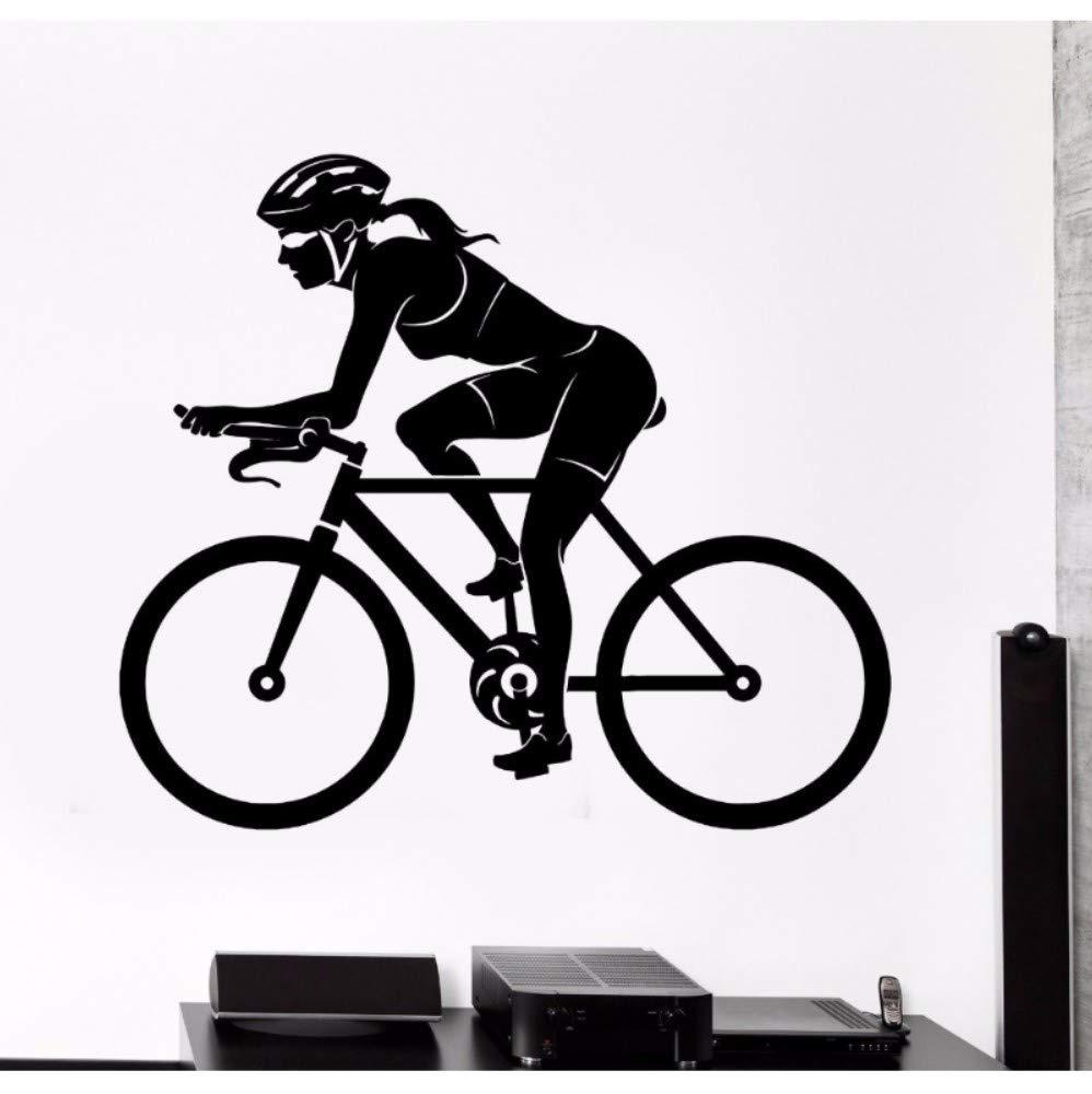 fjgkhk Bicicleta Mujer Mujer Ciclista Deporte Etiqueta De La Pared ...