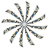 Huntingdoor 4 Inch Natural Feather Fletching Peltate Arrow Vanes Right Wing with Fashion Pattern 36pcs