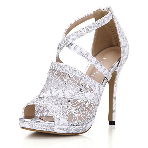 Click New Women elegance wedding banquet the the high-heel shoes black Tsai fish tip shoes Silver dxXYkD