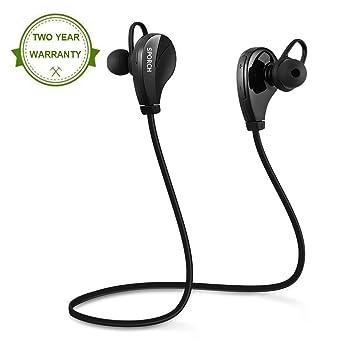 Auriculares Bluetooth Inalámbricos Manos Libre con Micrófono Estéreo In Ear Cancelación Ruido Resistente al Agua para Correr y Ejercicio Compatible con ...