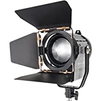 ASHANKS Dimmable Bi-color 100W LED Studio Fresnel spot Light 3200-5500K for Studio Camera Photo video Equipment