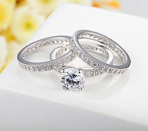 Amazon.com: Dixey Luxury Argollas de Matrimonio en Plata Anillos Sortijas 14k de Compromiso Boda Anel De Prata 925 Joyeria Fina Para Mujer: Jewelry