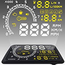 AutoLover® W02 Driving Safety Warning Alarm projector 5.5 inch Car OBDII HUD Head Up Display Projector Speed Warning System