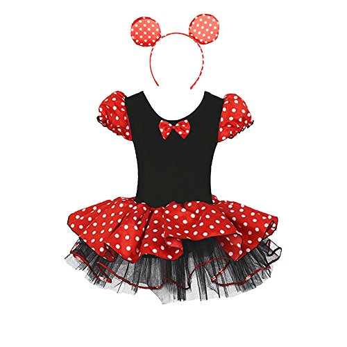 Cute Lovely Children's Halloween Cosplay Anime Costume Show Clothing Mouse Suit Ears Headband 2 Years (Cute Girl Halloween Costume)
