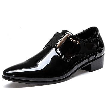 YAN Zapatos Formales para Hombres de Cuero/de Charol/PU con Cordones Zapatos con