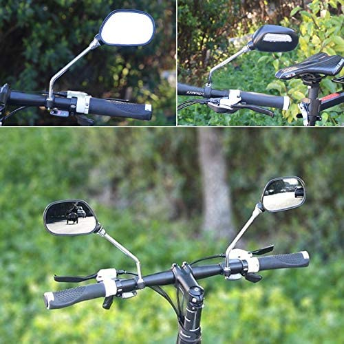 1Pair Bicycle Bike Mobility Scooter Handlebar Mirrors With Safety Reflecto LI