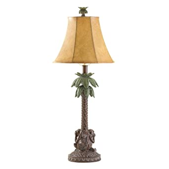 1 pair 2 monkey palm tree table lamp lighting light w shade misc 1 pair 2 monkey palm tree table lamp lighting light w shade misc mozeypictures Choice Image