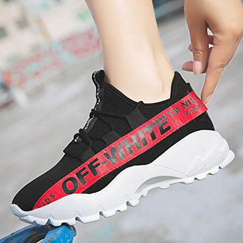 Turnschuhe zufällige Farbe Größe Eignung Maschen Trainer Leichte Turnhalle Weiß YaXuan Schwarz Athletische Sport Schuhe 40 Frauen gehende Laufende Turnschuhe Turnschuhe 4TwPqCZ5