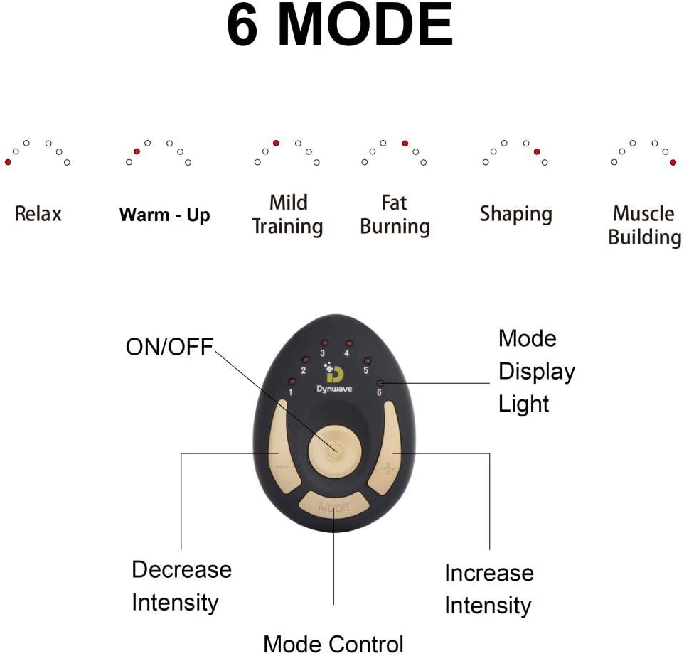 DYNWAVE Abs Stimulator Ab Workout,Fitness Equipment