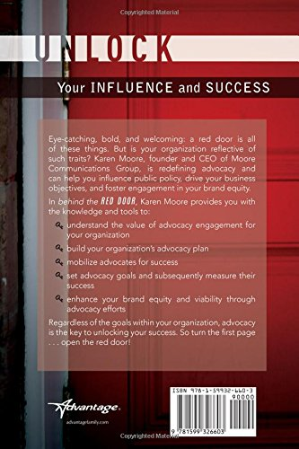 Amazon Behind The Red Door Unlock Your Advocacy Influence And