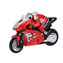 Tipmant Hign Speed 3CH RC Motorcycle Autobicycle with Gyroscope Remote Control Car Vehicle Electric Toy- Red