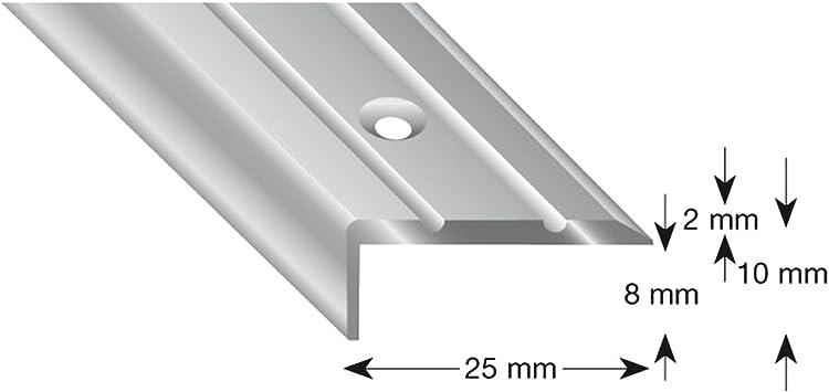 kügele Escaleras ángulo de aluminio anodizado en plata, perforadas, 25/10/1000 mm, 1 pieza, 105B S 100: Amazon.es: Bricolaje y herramientas