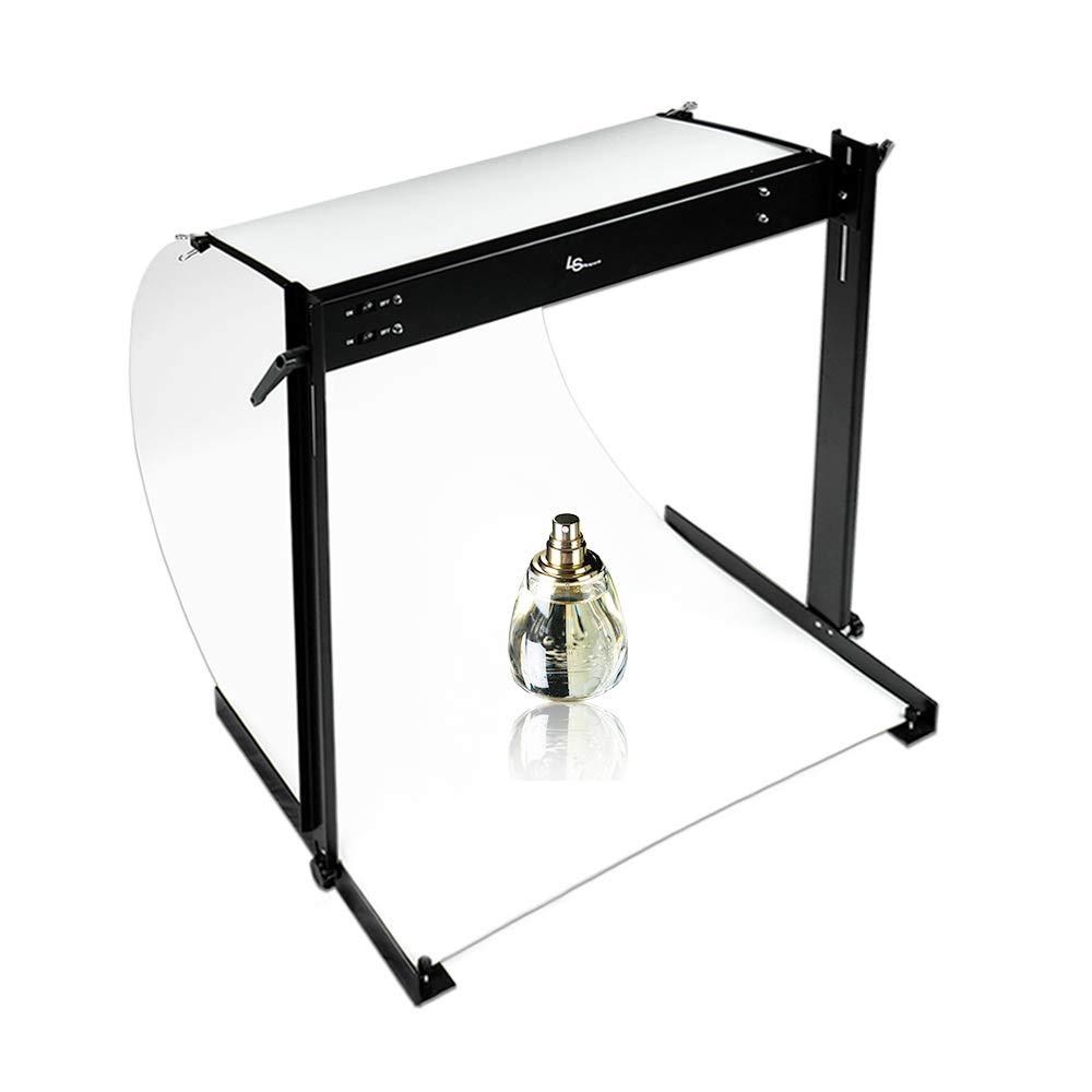 Lusana Studio Photo Shooting Table Stand Kit with Double LED Light Tube 6500K, TEMLNA1088 by Lusana Studio (Image #1)
