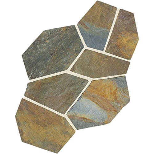 Natural Stone Collection Mongolian Spring 12 in. x 24 in. Slate Flagstone Floor and Wall Tile (13.5 sq. ft. / case) - Daltile Natural Stone