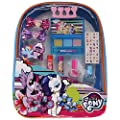 My Little Pony Backpack Cosmetic Set, Includes: Lip Gloss Compact, Hair Bows, Nail Polish, Nail File, Lip Balm, Toe Spacer, Nail Stickers