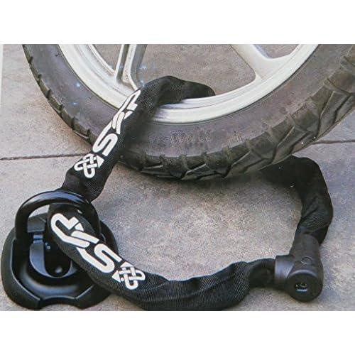 Avec des Attaches Vinz Murale Ancre // Ancrage au Sol Pour la S/écurit/é de Moto Scooter V/élo Pliable et Extensible Pour Chaine Antivol