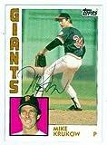 Mike Krukow autographed Baseball Card (San Francisco Giants) 1984 Topps #633 (Ball Point Pen) - MLB Autographed Baseball Cards