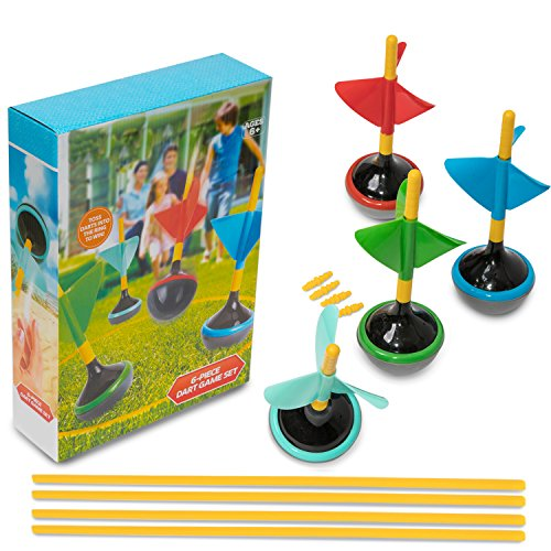 Perfect Life Ideas Lawn Darts Yard Games for Adults and Family - 6 Pcs Boxed Set Jarts as Lawn Backyard Beach - Indoor Outdoor Games for Kids All Ages -