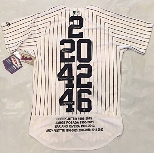 (JETER, MARIANO, PETTITTE, POSADA Signed Emb. WS Patch Jersey STEINER LE 27)