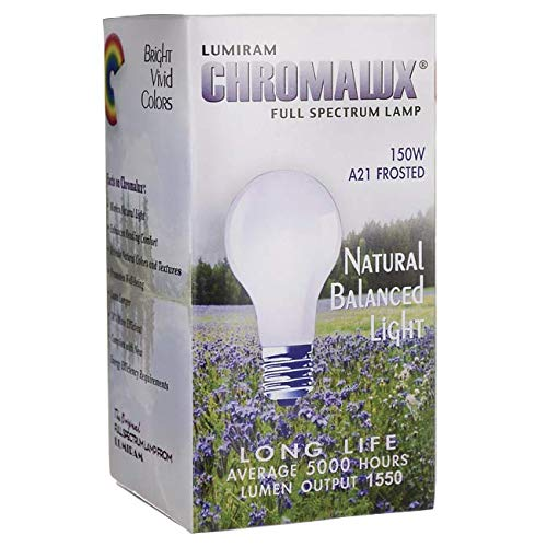 Full Lamps Spectrum Chromalux - Light Bulb 150 Watt 1 Unit