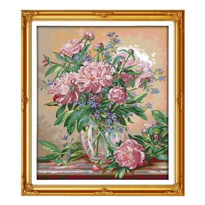 Bluebell Vase - Zamtac Chinese Cross Stitch Kits Bluebells vase DMC14CT11CT cottonfabric readingroom tearoom Deco Painting Factory Wholesale - (Color: XH580, Cross Stitch Fabric CT Number: 14CT White Canvas)