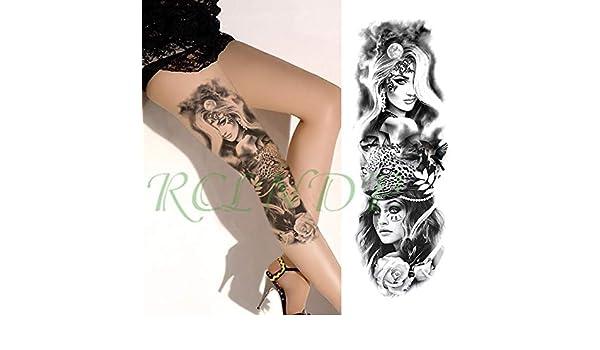 tzxdbh Impermeable Etiqueta engomada del Tatuaje de la Flor de la ...