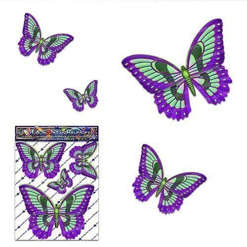 Small Green Butterfly Animal Vinyl Car Sticker Decal Pack For Laptop, Caravans, Trucks, Boats ST00025GR_SML - JAS Stickers