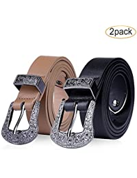 f02c067a9fa Western Fashion Belts for Women-Sexy Female Leather Skinny Girls Stylish  Derss Belt for Jeans