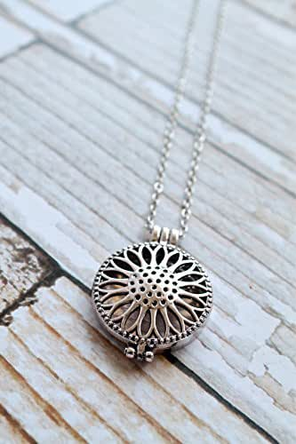 Amazon.com: Sunflower Diffuser Necklace For Essential Oils