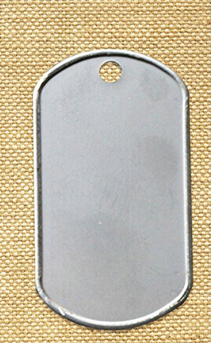 100 Shiny Stainless Steel Military spec HWH INVESTMENT(TM) Dog Tags - BLANK (100PACKS)