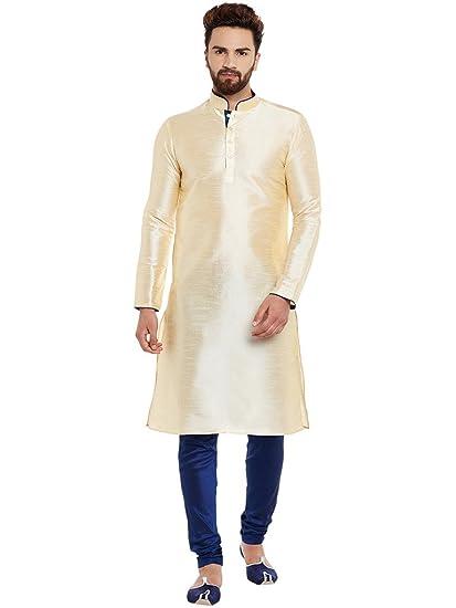 254b175f86 Larwa Men's Silk Kurta Pyjama Set: Amazon.in: Clothing & Accessories