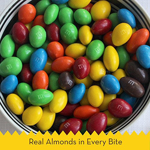 M&M'S Almond Chocolate Candy Family Size 15.9-Ounce Bag (Pack of 8) by M&M'S (Image #1)