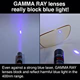 GAMMA RAY 801 Classic Computer Gaming Reading Amber Tinted Glasses with Magnification and Anti Blue Light Anti Glare UV400 for All Digital Screens +0.00 Magnification