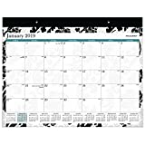 AT-A-GLANCE Monthly Desk Pad Calendar, January 2019 - December 2019, 22'' x 17'', Madrid (SK93-704)