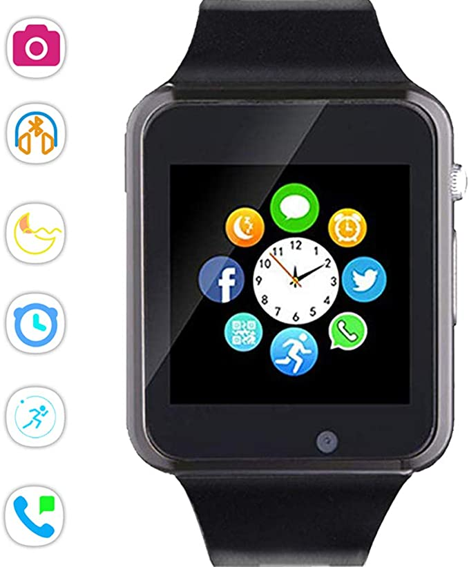 Beaulyn Bluetooth Smart Watch Men,Touch Screen Sport Wrist Watch Phone for Android Pedometer Smartwatch Compatible Samsung Men Women