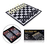 3 in 1 Magnetic Travel Chess Set Portable Chess