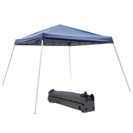 Abba Patio Folding Canopy Slant Leg Pop Up Instant Canopy With Roller Bag,  12 X
