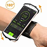 Opard Phone Wristband 180° Rotating Sports Armband Holder Running Jogging Exercise Cellphone Universal for iPhone 6 7 Plus, Samsung Galaxy S7 S8 Edge (4 to 5.5 inch)